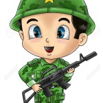 18890887-Cute-cartoon-illustration-of-a-soldier-Stock-Photo